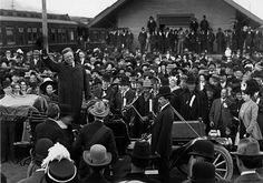 Teddy Roosevelt campaigning for President in my hometown, 1911.