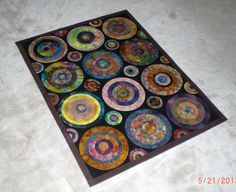 Painted Floor Cloths, Flooring, Decorating, Quilts, Stitch, Projects, How To Make, Decor, Log Projects