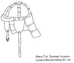 Leather Helm by Baron Sir Gerhard Kendal from an original by His Lordship Strygo Alexandru von Talmetz