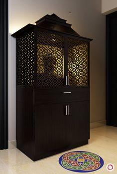 Puja Room Designs with Mesmerising Jaali Panels