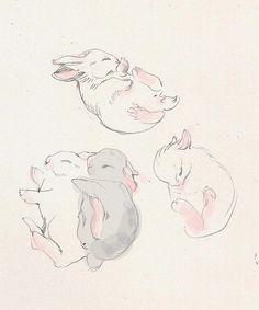saucerful-of-secrets:    sleepy bunnies by solnechnaya on Flickr.