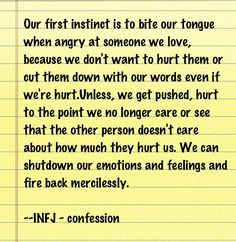 INFJ - being hurt. {Something anyone needs to know about me before starting a serious relationship.}