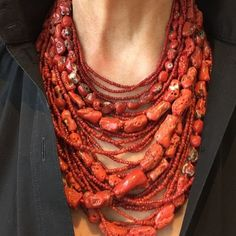 Styling for coral necklace Tribal Jewelry, Turquoise Jewelry, Boho Jewelry, Jewelry Art, Beaded Jewelry, Jewelery, Jewelry Necklaces, Fashion Jewelry, Beaded Necklace