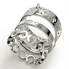 STERLING MULTI OP ART STACKING RINGS