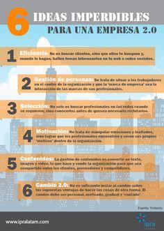 6 Ideas imperdibles para una empresa 2.0 #infografia #infographic #socialmedia