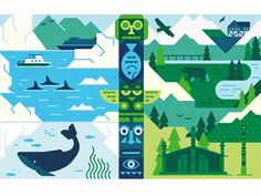 Alaska designed by MUTI. the global community for designers and creative professionals. Flat Design Illustration, Graphic Illustration, Game Design, Vector Design, Vector Art, Alaska, Joker Art, Graphic Design Typography, Motion Design