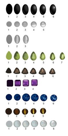 Painting gem stones