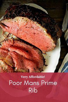 Roast Beef Recipes, Beef Recipes For Dinner, Rib Recipes, Cooking Recipes, Cooking Beef, Game Recipes, Keto Recipes, Poor Mans Prime Rib Recipe