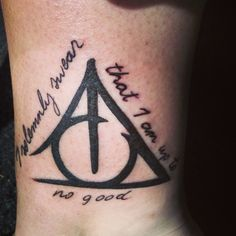 Harry Potter Tattoo -- if i could find a quote that went better with the deathly hallows symbol.