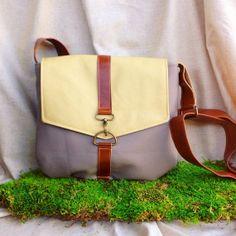 satchel   leather crossbody bag   gray vegan by RACHELelise, $52.00