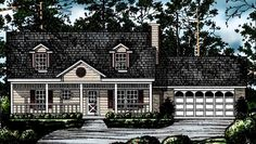 Country House Plan with 1360 Square Feet and 3 Bedrooms(s) from Dream Home Source   House Plan Code DHSW54966