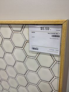 "hexagon tile in ""milk"""