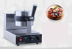 1200W Lattice Thicken Commercial Non Stick Plates Waffle Maker Stainless Steel C