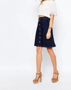 Image 4 ofPepe Jeans Denim A-Line Knee Skirt