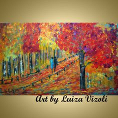 Original Abstract Large 48x30 Modern Trees by LUIZAVIZOLI on Etsy