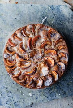 Lavender Cake with Apricots and Walnuts from Plenty More by Yotam Ottolenghi