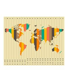Take a look at this Time Zones Wall Art by Epic Art on #zulily today!