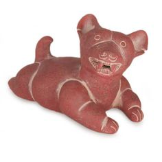 Mexican Unique Archaeological Ceramic Dog Sculpture
