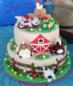 Tortas animales de la granja |Ideas y decoración de fiestas ...                                                                                                                                                     Más