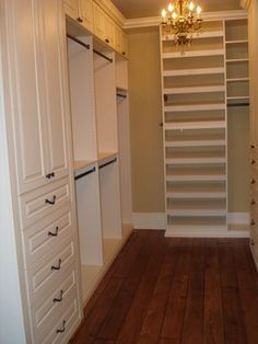 Walk in closet, built in shelving, shoe storage, bag storage, cabinet storage