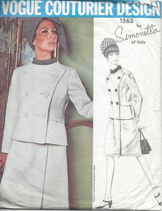 1960s Vintage Sewing Pattern B34 DRESS & JACKET (1061) SIMONETTA of ITALY…
