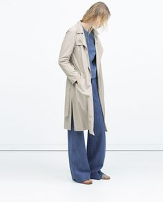 ZARA - WOMAN - DRAPED TRENCHCOAT