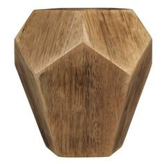 Geometric Wood Table Vase