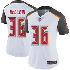 Women's Nike Tampa Bay Buccaneers #36 Robert McClain White Vapor Untouchable Limited Player NFL Jersey