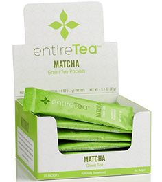 EntireTea Matcha Green Tea Packets - Instant and Non Clumping Powder - 100% Japanese - Sustained Energy - Antioxidants - Boost Metabolism and Focus (20 Pack) * You can find out more details at the link of the image.