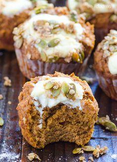 Pumpkin Muffins with Cream Cheese