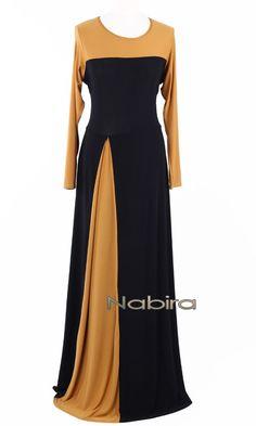 Robe RLP14 fausse fente Abaya Fashion, Muslim Fashion, Women's Fashion Dresses, Dress Outfits, Mode Abaya, Mode Hijab, Stylish Dresses, Elegant Dresses, Kaftan Pattern