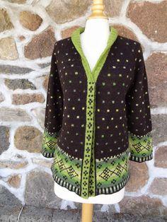 En grøn konfetti Madam Munch