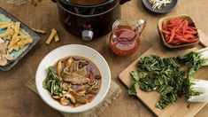 McCormick Asian Hot Pot Broth with Tangy Chili Sauce Vegetable Noodle Soup, Multi Cooker Recipes, Multicooker, Chicken Risotto, Slow Cooker Breakfast, Creamy Rice, Slow Cooker Pork, How To Cook Steak, Hot Pot