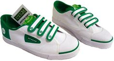 DUNLOP GREENFLASH VELCRO MENS RETRO INDIE TRAINERS - Green Dunlop Retro Green…