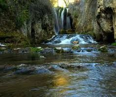 Roughlock Falls in beautiful Spearfish Canyon: Northern Black Hills.
