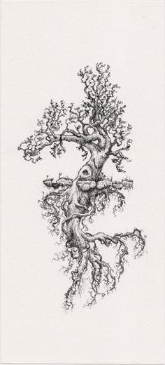 """Like the unevenness of tree & roots. *Tree of life! Strong roots=Base of knowledge, well being, healt and secret & sacred tool for those who seek better understanding of universal consciousness.- """"Jussi"""" the psychonaut. Arlo Tattoo, I Tattoo, Tatouage Delta, Kodama Tattoo, Piercing Tattoo, Piercings, Nature Tattoos, Skin Art, Tree Art"""