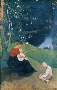 Pekka Halonen, Tuonen Lehto, 1902, from The Life and Art of Pekka Halonen - http://www.alternativefinland.com/art-pekka-halonen/
