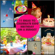 11 Ideas to Celebrate Kids' Birthday on a Budget