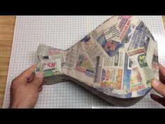 JARRON ESTILO MARROQUÍ ,ELEGANTE - YouTube Vase Crafts, Bottle Crafts, Fun Crafts, Diy And Crafts, Arts And Crafts, Clay Wall Art, Bottle Cutting, Paper Vase, Cardboard Crafts