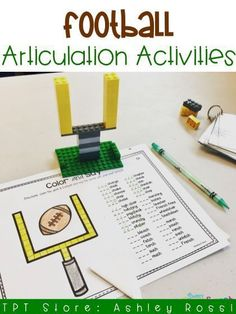 Fun Football themed activities for targeting articulation in speech therapy!