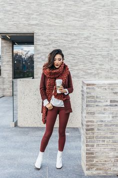 5. Brown Outfit With White Chelsea Boots 2017 Street Style