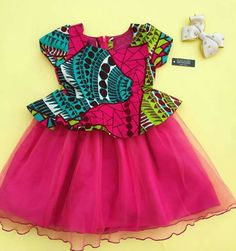 fea6b76e3eb African print with tule African Fashion Dresses