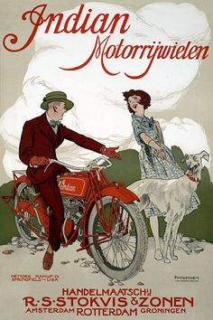 Indian Motorcycles http://www.vintagevenus.com.au/products/vintage_poster_print-tr310