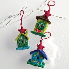 Birdhouse Felt Holiday Ornaments | The Company Store