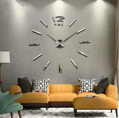 Hot! Modern Large 3D Mirrors Wall Clock DIY Home Decor Art Watch Wall Sticker LA #Unbranded #Novelty