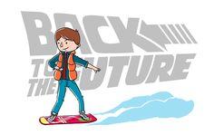 """Ilustração para comemorar os 30 anos de """"BACK TO THE FURURE"""" =D"""