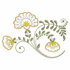 Jacobean Embroidery Patterns | Jacobean Floral Coaster Machine Embroidery Designs Pic #17