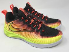 b86d32c06fd Nike Vapor Speed Turf Lax Football Trainers Solar Flare SZ 4.5Y ( 850673-798