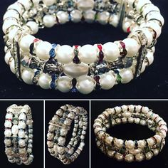 PaoVic Store    http://www.paovicstore.com    Handcrafted Bracelet    Made With Glass White Pearls, A Variety Of Spacers And  Beautiful Round Faceted Crystals All On Memory Wire. (will keep it's shape)    PAOVIC STORE    ELEGANT AND SOPHISTICATED   HANDCRAFTED JEWELRY.      Welcome to PAOVIC STORE we really hope you enjoy you're visit and that we can help you find something you like. We also would like to mention that  all the items that have the PAOVIC brand are quality handmade…