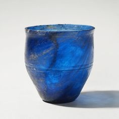 Roman Transparent blue glass Cup 1151 Culture : Roman Imperial Period : 1st Century A.D.
